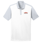 Personalized Nike White Grey Colorblock Polo