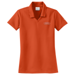 Women's Personalized Nike Micro Pique Orange Polo