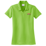 Women's Personalized Nike Micro Pique Mean Green Polo