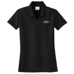 Women's Personalized Nike Micro Pique Black Polo