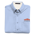 Personalized Lt Blue Short Sleeve EZ Care Shirt
