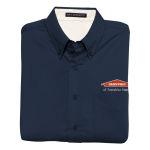 Personalized Navy Short Sleeve EZ Care Shirt