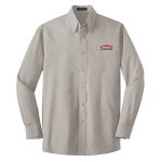 Personalized Grey Long Sleeve Value Poplin Shirt