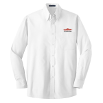 Personalized White Long Sleeve Value Poplin Shirt