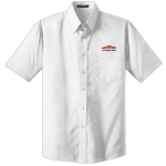 Personalized White Short Sleeve Value Poplin Shirt