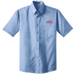 Personalized Lt Blue Short Sleeve Value Poplin Shirt
