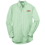 Personalized Green Long Sleeve Plaid EZ Care Shirt