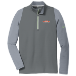 Personalized Nike Stretch Dark Grey Green 1/2 Zip
