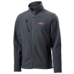 Personalized Grey Welded Soft Shell Jacket