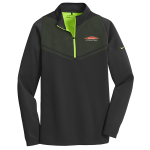 Personalized Nike Therma-Fit Black Green 1/2 Zip
