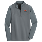 Personalized Nike Therma-Fit Grey Black 1/2 Zip