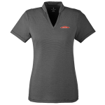 Ladies Spyder Stripe Boundary Polo Black