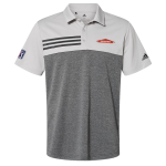Grey Heather Adidas Colorblock 3-Stripe Polo