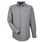 Men's L/S Crownlux Tonal Mini Check Shirt - Graphite