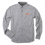 Gingham 4-Way Stretch Men's Shirt - Jet Gray