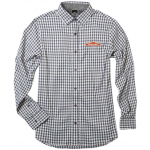 Women's Gingham 4-Way Stretch L/S Shirt - Jet Gray