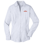 White SERVPRO® Plaid Pattern Easy Care Dress Shirt