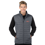Men's Grey Quilted Puffer Vest
