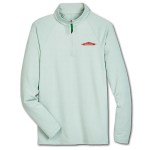 Men's 1/4 Zip Micro-Stripe -Kelly Green