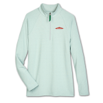 Women's 1/4 Zip Micro-Stripe -Kelly Green
