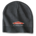 Personalized Charcoal Knit Beanie