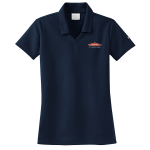 Women's Personalized Nike Micro Pique Navy Polo