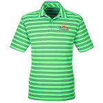 Personalized Under Armour Tech Stripe Green Polo