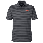 Personalized Under Armour Tech Stripe Graphite Polo