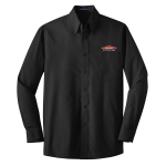 Personalized Black Long Sleeve Value Poplin Shirt