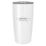 Personalized 20 oz. Stainless Steel Tumbler - White