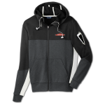 Men's Full Zip Hooded Jacket - Black/Grey/White